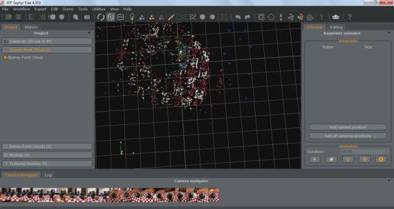 Так выглядит созданное Zephyr Free облако точек